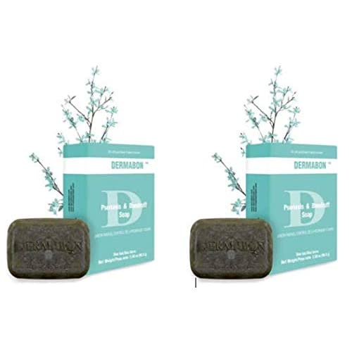 DERMABON Artisan Soap-Like Psoriasis Treatment  All Natural Ingredients, No  Cortisone  FDA Approved  (2 Bar Pack)