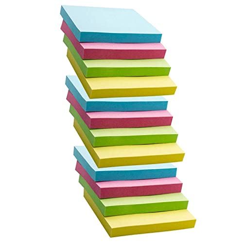 Sticky Note Pads Assorted Bright Colour Removable School Office Message Reminder