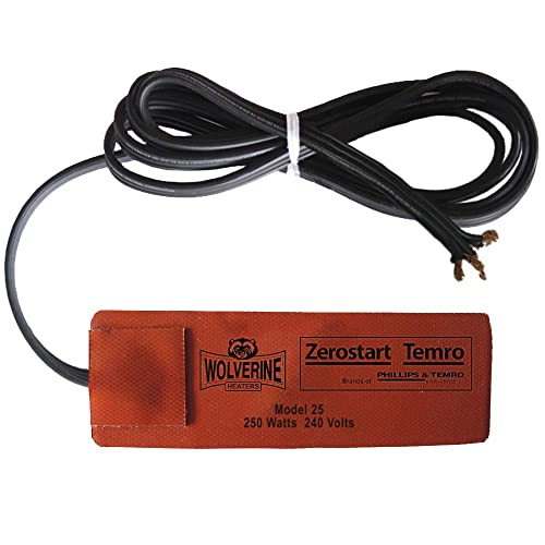80 Watts Zerostart /& Temro 120 Volts 72-Inch Zerostart 2800071 Electric Battery Blanket Battery Heater Wrap