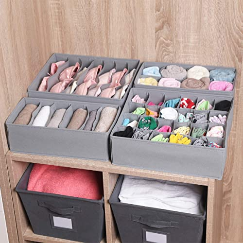 Light Beige Dresser/Drawer/Organizer/for Women,Men Underwear Drawer Organizer for Kids,Socks,Underwear,Ties YOMFUN Underwear Organizer Sock Drawer Organizer Divider Panties,2 PCS