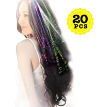 LOT OF 3 GLOWBYS FIBER OPTIC HAIR EXTENSION PARTY FREE SHIP DANCE RAVE PROM