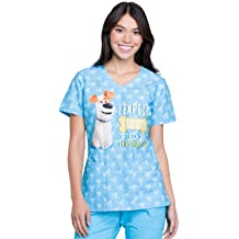 New Women/'s Tooniforms TF634 V-Neck Medical Scrub Top In Beyond Cute Size XS-2XL