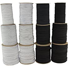 Weather Resistant Moisture UV IndoorOutdoor 500 feet - Woodland Camo SGT KNOTS 100/% Stretch DIY Projects Tie Downs Shock Cord 3//16 inch Commercial Marine Grade Dacron Polyester Bungee